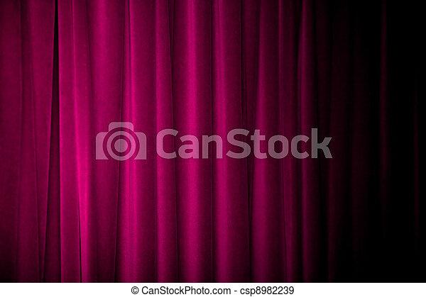 stock fotografien von lila vorhang lila vorh nge mit viele falten und csp8982239. Black Bedroom Furniture Sets. Home Design Ideas