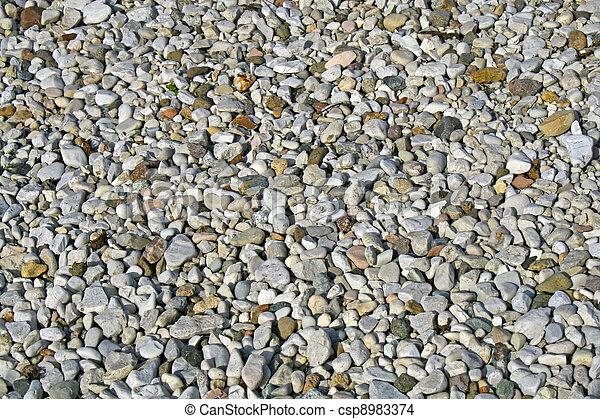 Banco de imagens de cascalho, pedras, jardim, cheio ...