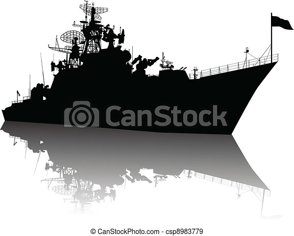 High detailed ship silhouette - csp8983779