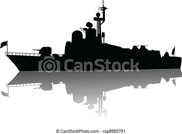 High detailed ship silhouette - csp8983781