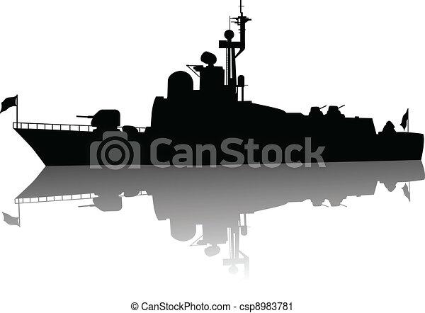 High detailed ship silhouette   - csp8983781