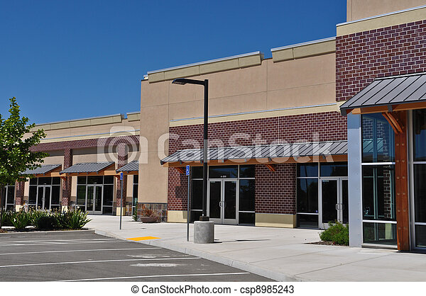 Strip Mall Shopping Center Parking Lot - csp8985243
