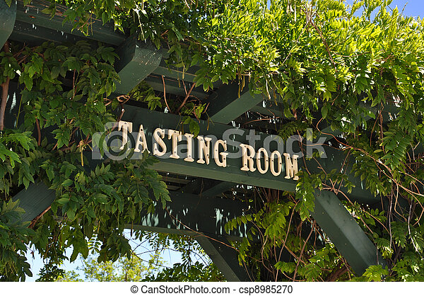 Wine Tasting Room Sign - csp8985270