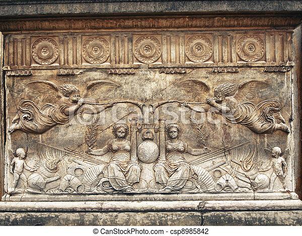 Allegorical bas-relief - csp8985842