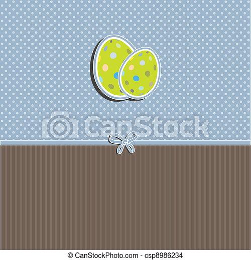 Easter egg background - csp8986234