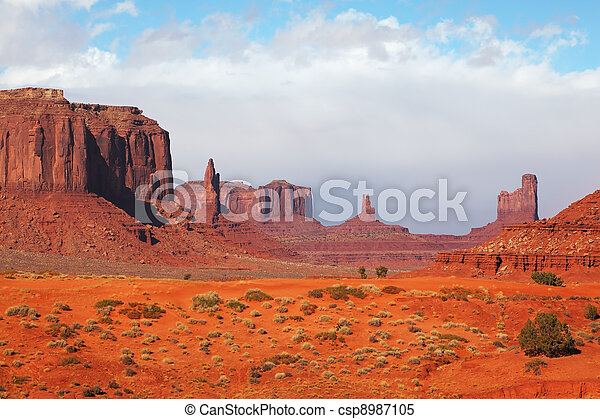 The majestic Monument Valley - csp8987105
