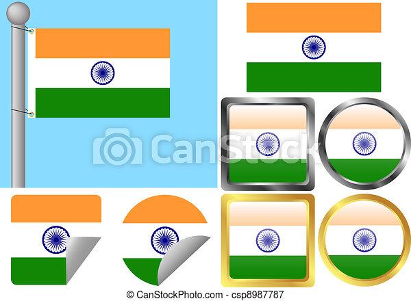 Flag Set India - csp8987787