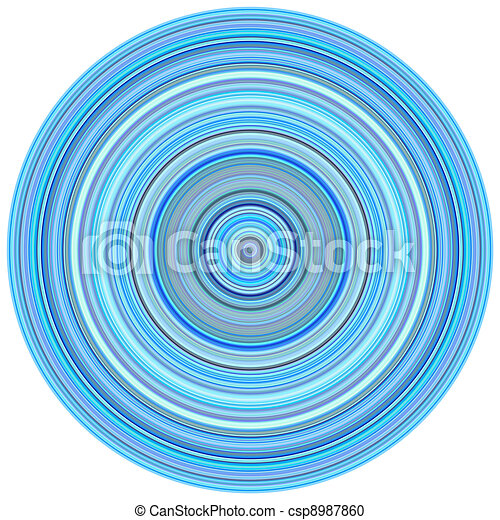 large 3d render concentric pipes in multiple blue purple colors  - csp8987860