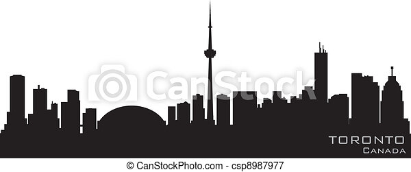 Toronto Canada skyline. Detailed vector silhouette - csp8987977