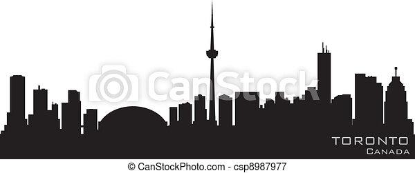 Toronto Canada skyline. Detailed vector silhouette - csp8987977