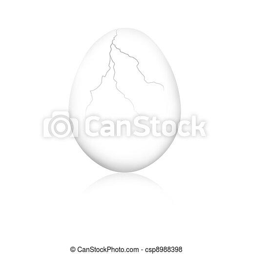Cracked egg - csp8988398