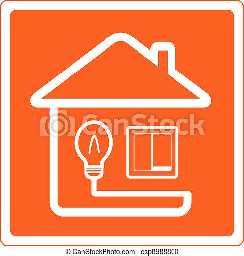 Archivio illustrazioni di elettricit casa simbolo - Elettricita in casa ...