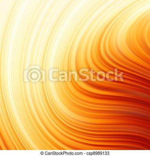 Glow Twist  with golden flow. EPS 8 - csp8989133