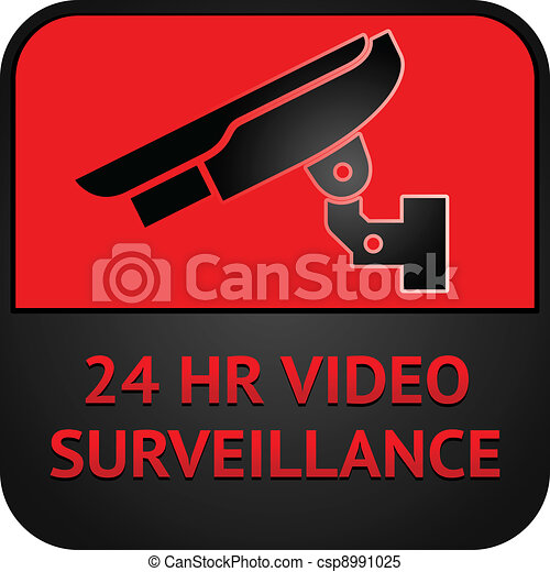 CCTV symbol, surveillance pictogram - csp8991025