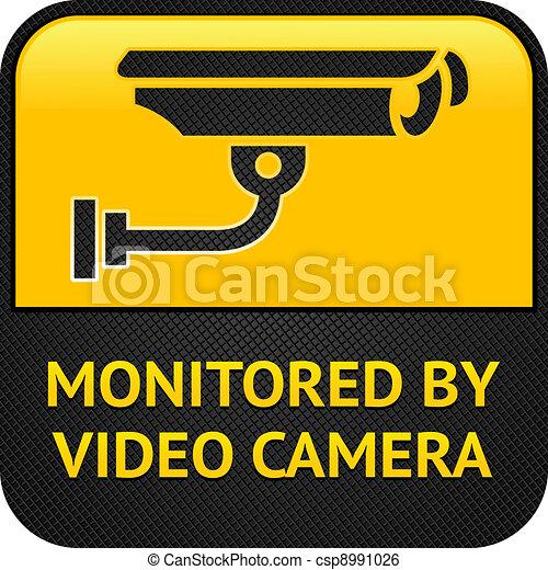 CCTV symbol, surveillance sign - csp8991026