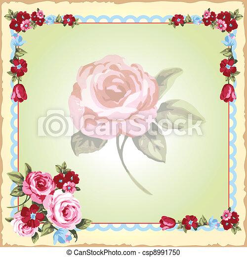 Victorian floral Invitation - csp8991750