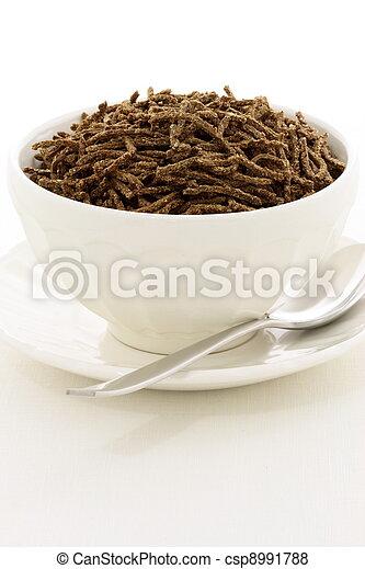 wheat bran cereal breakfast - csp8991788