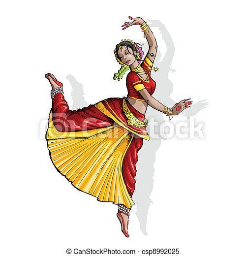Indian Classical Dancer - csp8992025