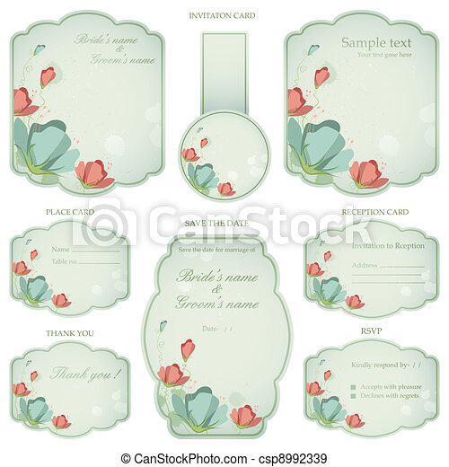 Wedding Reception Invitation Card - csp8992339