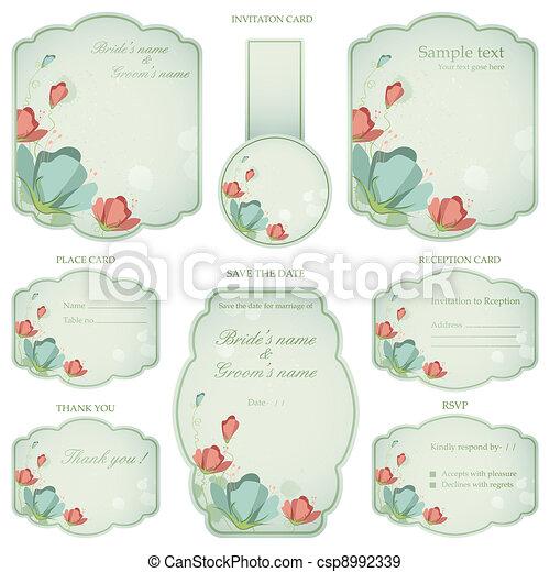 Wedding Reception Invitation Card - csp8992339