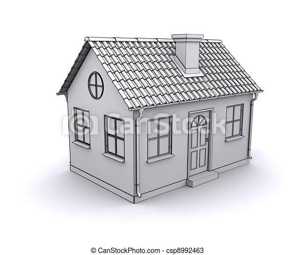 Dessins De Cadre Maison 3d Mod Le Blanc Csp8992463