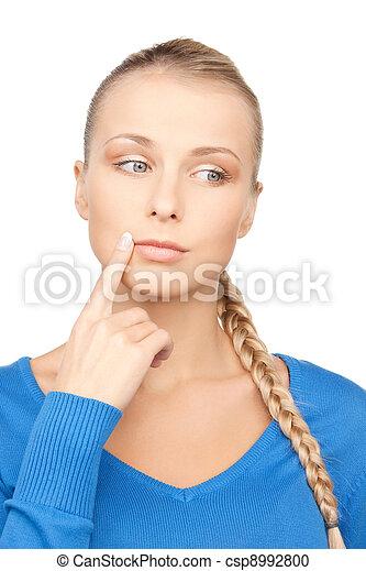pensive woman - csp8992800