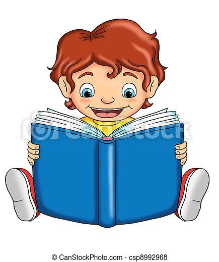 child that reads - csp8992968