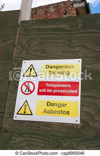 Asbestos Danger Sign - csp8993046