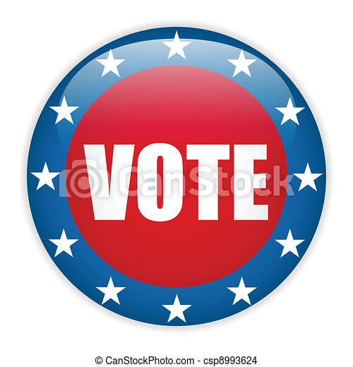 United States Election Vote Button. - csp8993624
