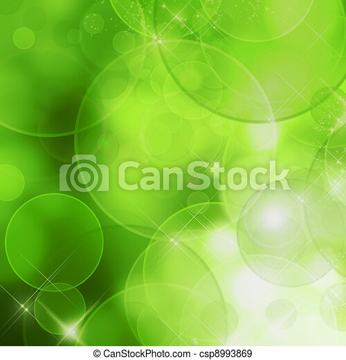 Abstract nature background (green bokeh) - csp8993869