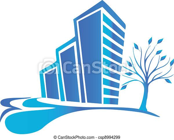 Real estate logo - csp8994299