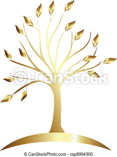 Gold tree logo - csp8994300