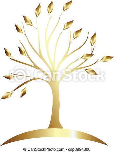 Gold tree logo - csp8994300