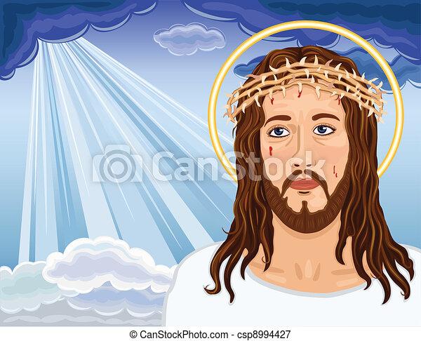 The Resurrection - Portrait of Jesus Christ - csp8994427