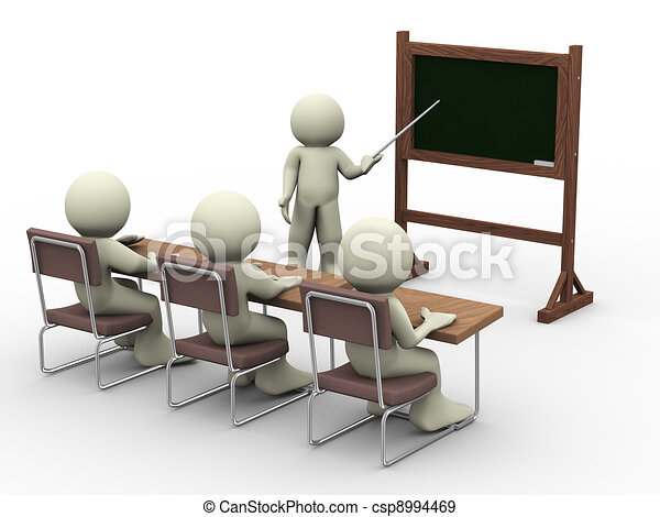 Lesson in classroom - csp8994469