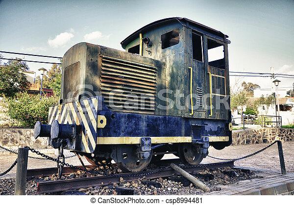 Old steam locomotive - csp8994481