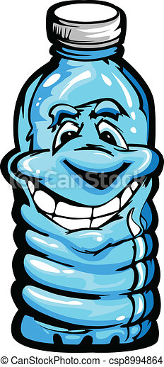 Happy Cartoon Plastic Water Bottle - csp8994864
