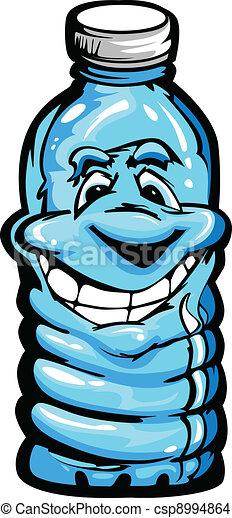 Happy Cartoon Plastic Water Bottle  - csp8994864