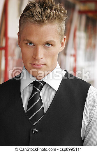Serious sexy young man - csp8995111