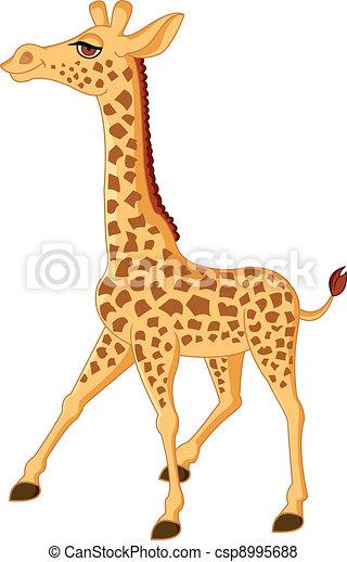 Vettore di giraffa cartone animato vettore - Cartone animato giraffe immagini ...
