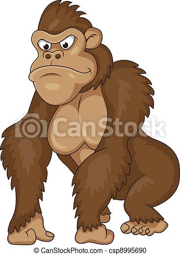Gorilla cartoon - csp8995690