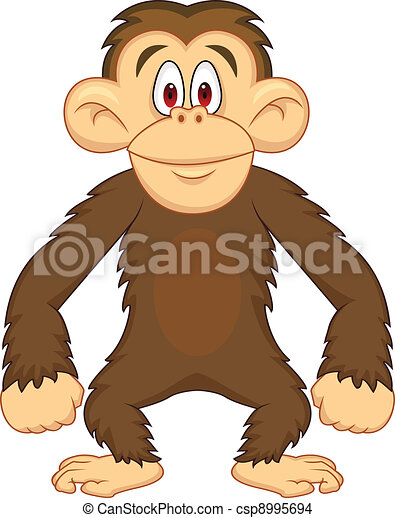 Chimpanzee cartoon - csp8995694