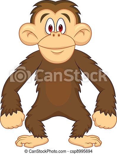 Chimpanzee cartoon - csp8995694
