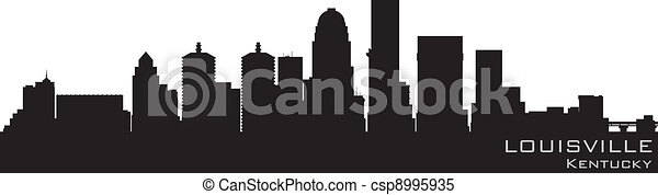 Louisville, Kentucky skyline. Detailed vector silhouette - csp8995935