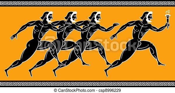 Greek runners - csp8996229