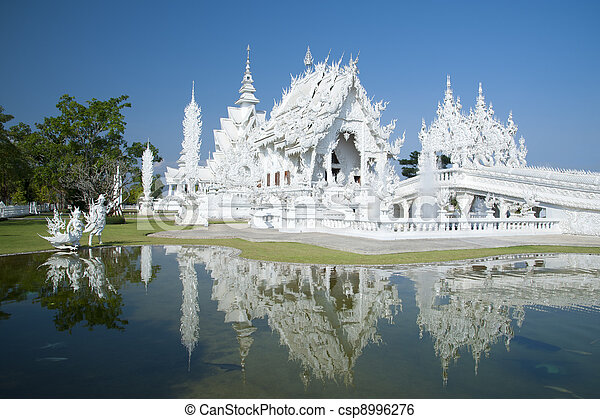 White Temple Chiang Rai Thailand - csp8996276