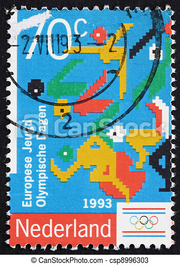 Postage stamp Netherlands 1993 Symbols of Olympic sports - csp8996303