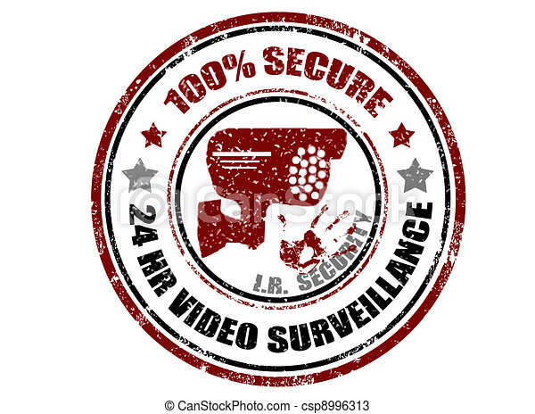 100% secure stamp - csp8996313