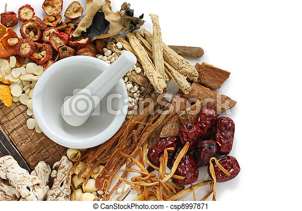 traditional chinese herbal medicine - csp8997871