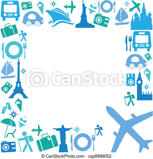 Frame with Travel icons - csp8999052
